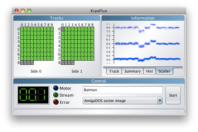 KryoFlux Graphical User Interface